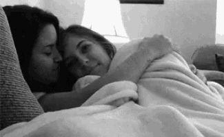 Výsledek obrázku pro lesbian cuddle gif