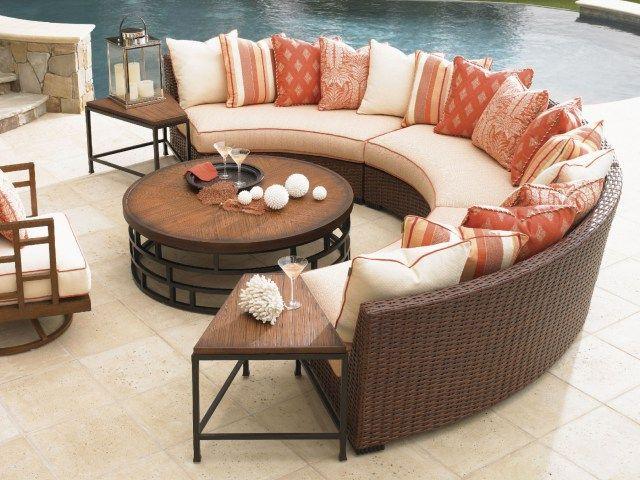 Semi Circle Outdoor Patio Furniture, Half Circle Patio Furniture