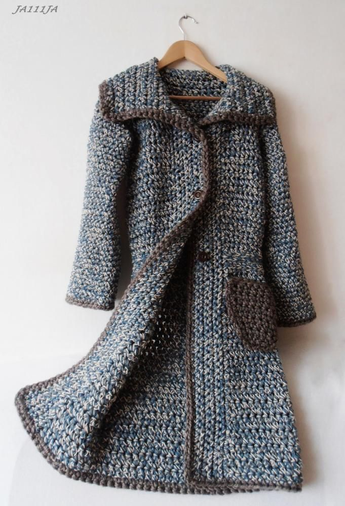 Knitting Patterns For Barbie Clothes : 230 best crochet coat jacket images on Pinterest Crochet coat, Crochet clot...