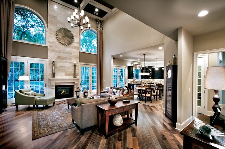 Toll Brothers 2 Story Family Room Lakefront Interior Pinterest