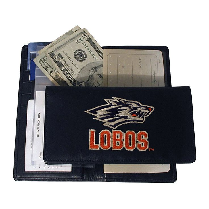 University of New Mexico Lobos Checkbook Wallet, Adult Unisex, Multicolor