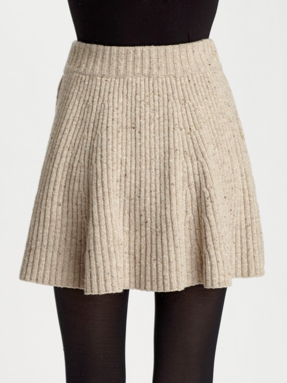Oatmeal Sweater Skirt