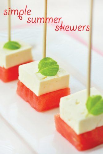 So refreshing and cute! From Greg of SippitySup Watermelon & Feta: Simple Summer Skewers