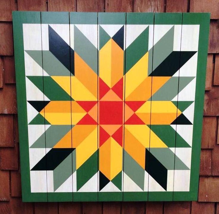 Sunflower Barn Quilt by Chela