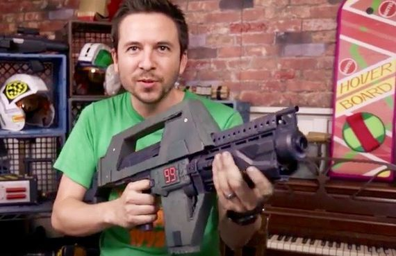 "AWE Me's latest ""DIY Prop Shop"" episode shows you how to make your very own ""Aliens"" Pulse Rifle prop. Game over."