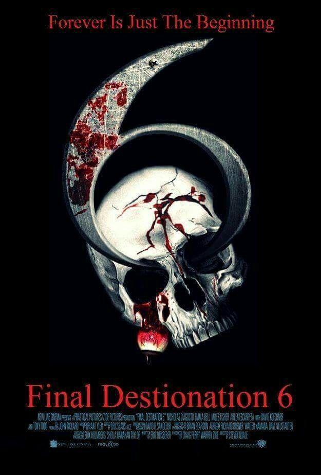 Final Destination 6 Movie Poster Film Horreur Affiche Film Film