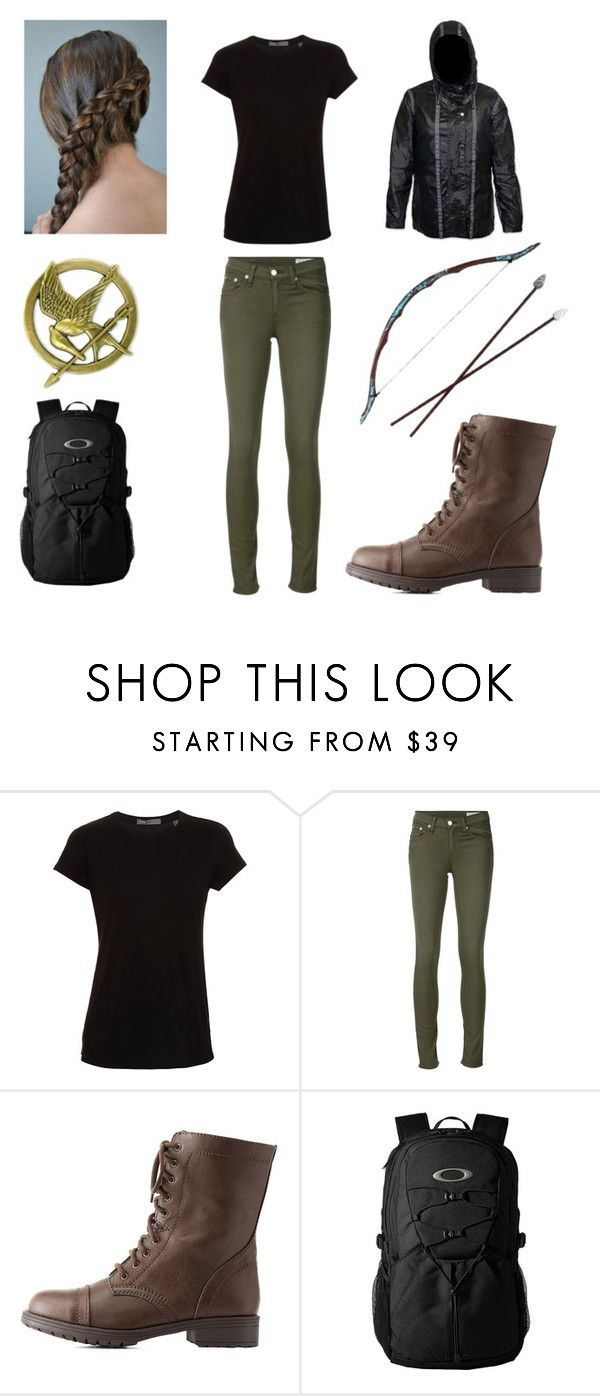 """""""KATNISS EVERDEEN"""" by a-v-a-196 ❤ liked on Polyvore featuring Vince, rag & bone/JEAN, Charlotte Russe and Oakley"""