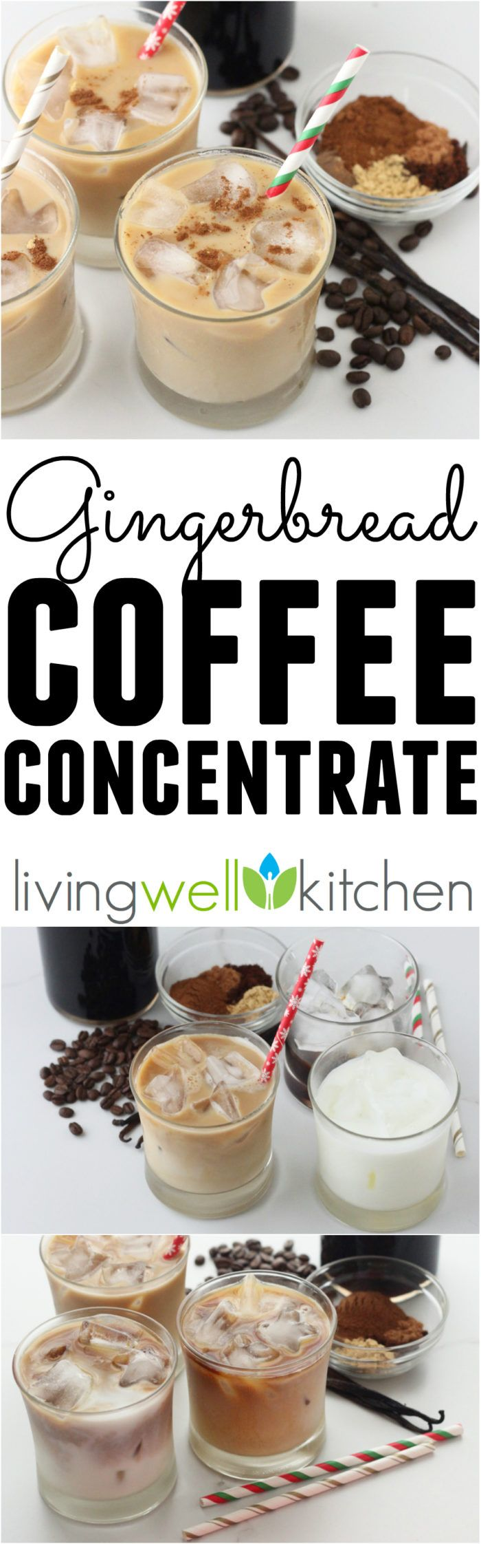 Enjoy the flavors of the Christmas season in this homemade holiday cold brew coffee. Gingerbread Coffee Concentrate recipe from @memeinge is great for making hot or iced lattes and perfect for gifting to others