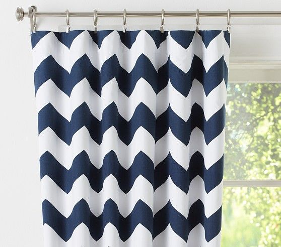 Chevron Blackout Panel | Pottery Barn Kids Also available in Pink and in gray Pink bed room?
