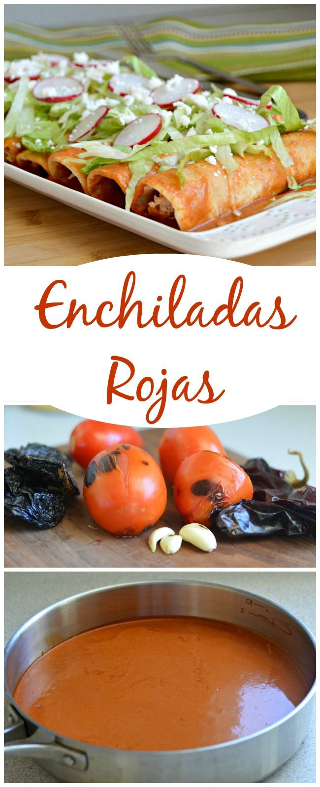 These Enchiladas Rojas are delicious - the sauce is a bit creamy and tastes amazing.