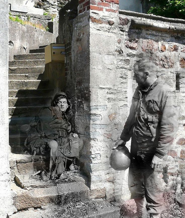 9 Haunting Then-And-Now Photos Of World War II Europe -- created by Jo Teuwisse