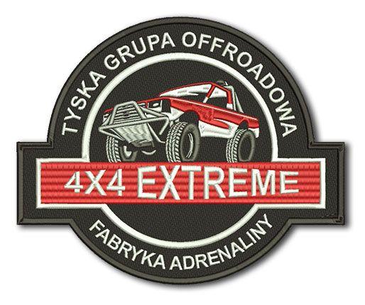 Naszywka Tyska Grupa Offroadowa 4x4 Extreme Fabryka Adrenaliny