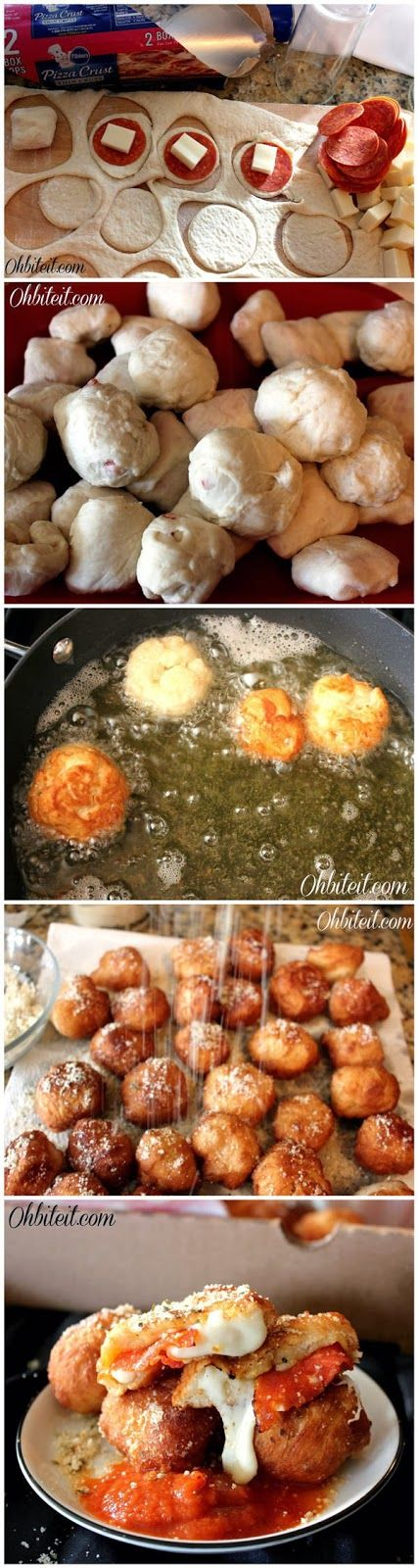 Fried Pizza Poppers - Latest Food #recipe #pizza