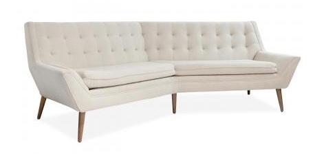 Jonathan Adler's Whitaker Angled Sofa