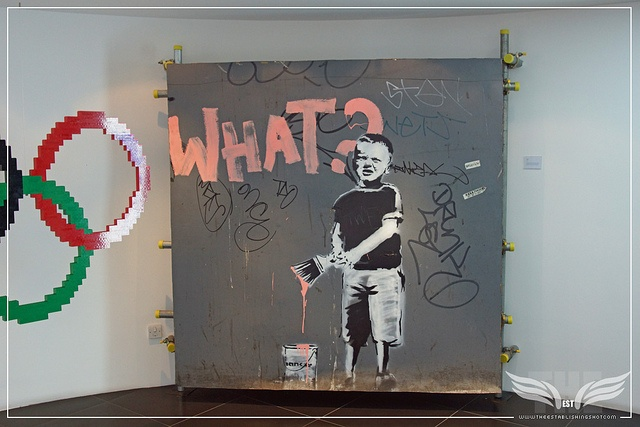 The Establishing Shot: BANKSY WHAT? KID @ FREUD COMMUNICATIONS, LONDON by Craig Grobler, via Flickr