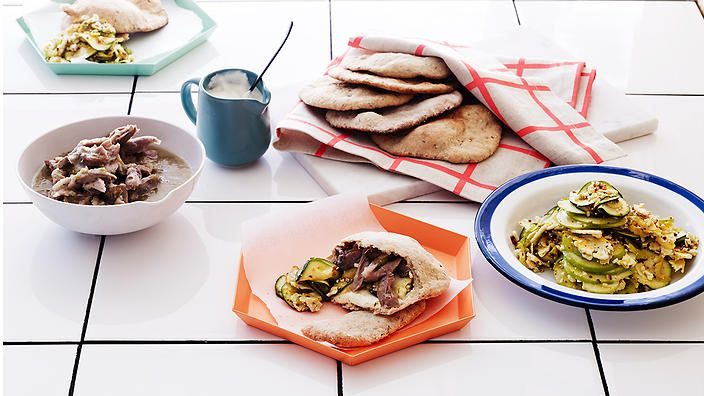 Cider isn't just great for drinking, it's also perfect for cooking. Use the drink to glaze ham hocks and serve in pita pockets with piccalilli. #rkkitchennotebook