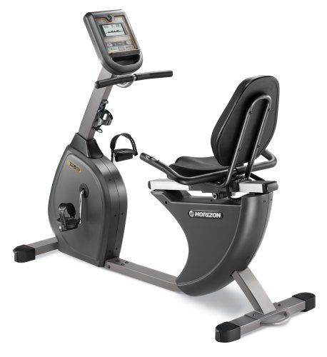 Horizon RC-30 - Sit back and get fit. Whether it's for the cardio workout or a desire to stay in cycling shape when the weather turns cold, an indoor exercise bike from Horizon is a low-impact, highly enjoyable way to achieve your goals. Built for stability, quiet operation and long life, the RC-30 is a smart addition to anyone's fitness routine. It's also easy to program, with 8 workouts and 8 resistance levels to choose from...