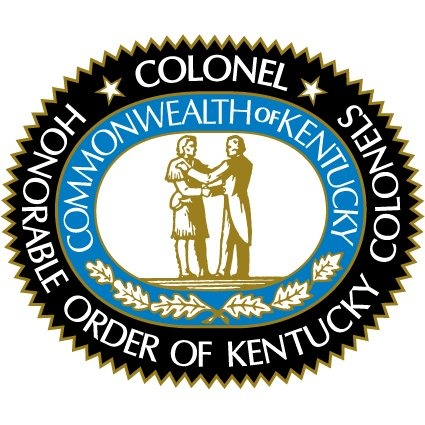 Honorable Order of Kentucky Colonels is an organization that recognizes Colonels that are commissioned by the governor with free membership for life.
