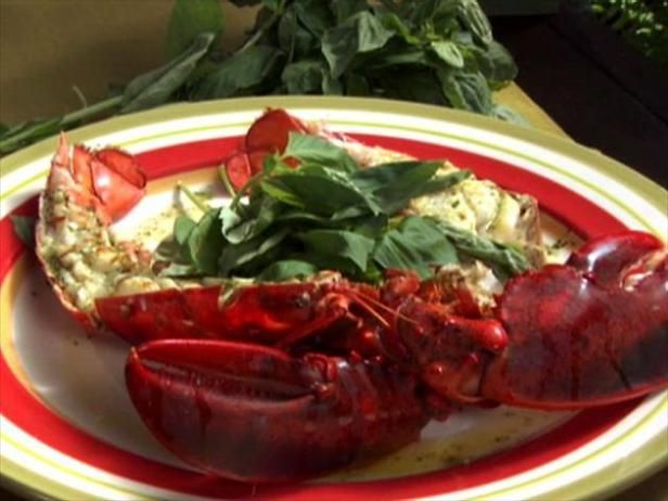 Give your steamed lobster a smoky, creamy finish on the grill.