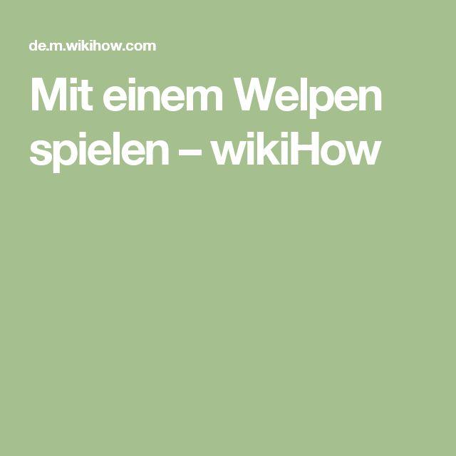 Mit einem Welpen spielen – wikiHow