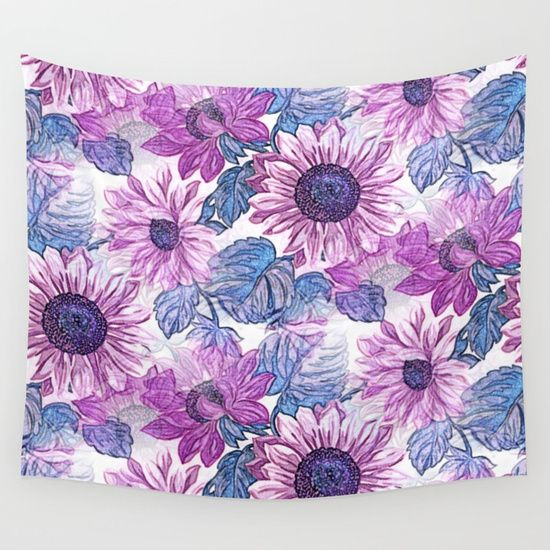 Dusty Pink Flowers Wall Tapestry by Kirsten Star. Worldwide shipping available at Society6.com. Just one of millions of high quality products available.