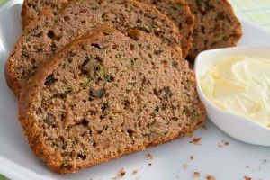 skinny zucchini bread I made this this morning, switched the walnuts for an apple.  Crazy good!