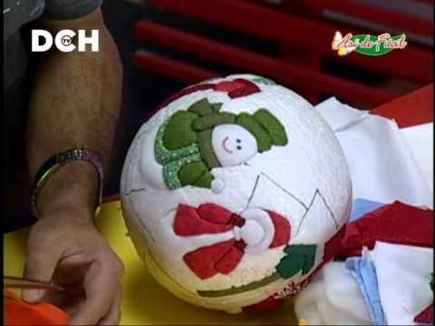Esfera navideña con técnica PSA
