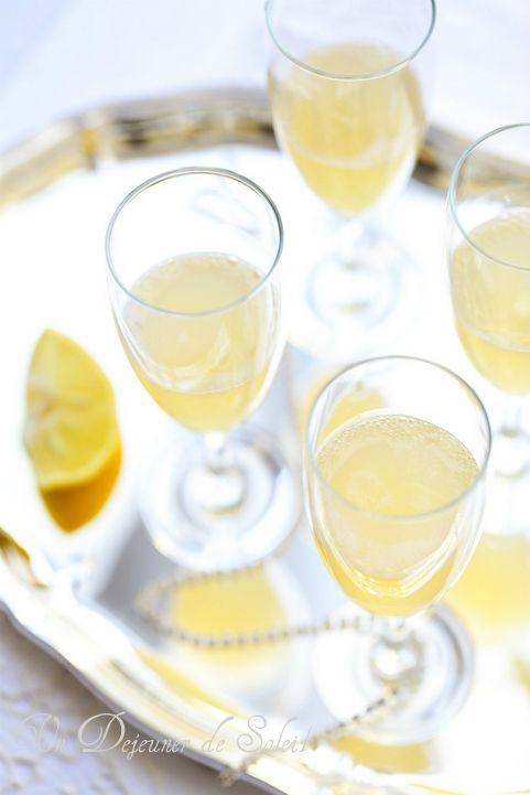 Cocktail de fête au champagne et citron bergamote ©Edda Onorato