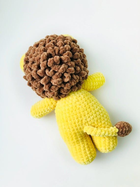 PDF Pattern Crochet Toy Cute Curly Lion Amigurumi Pattern