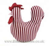 Fabric Striped Chicken Doorstop