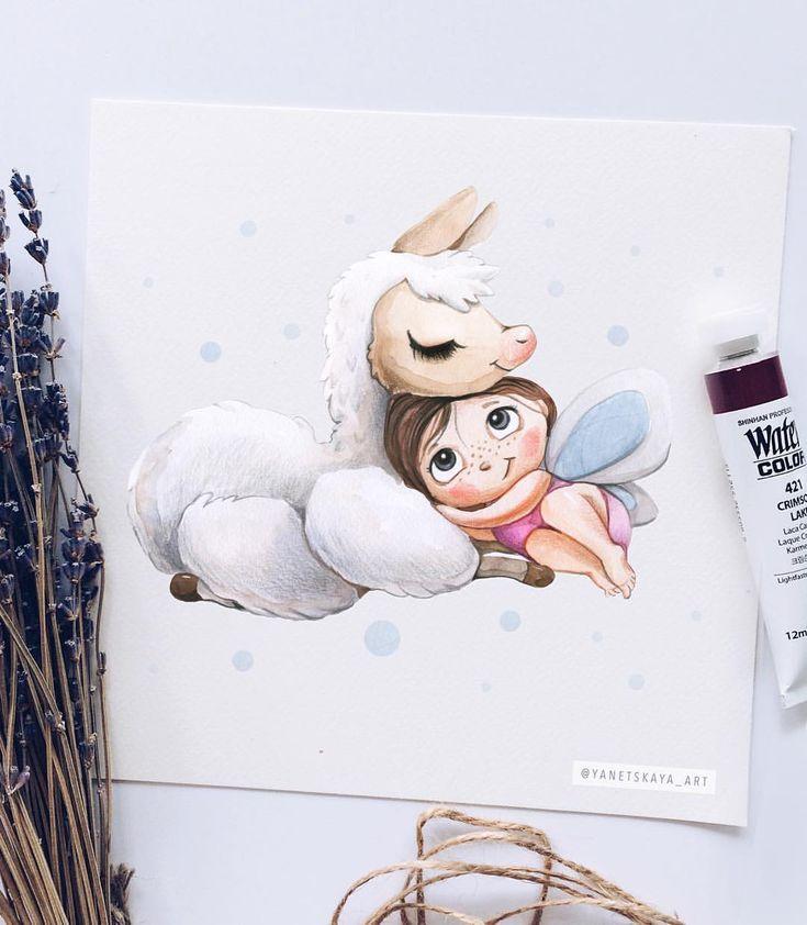 Süße Illustrationen. Kinderbücher (@yanetskaya_art) | Instagram Fotos und Videos