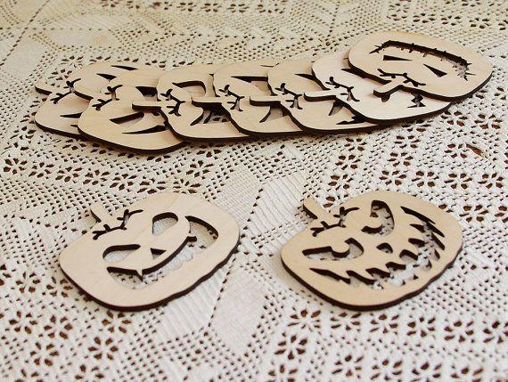 Set of 9 coasters for mugs. Quadratic pumpkin. Birch by huuhka