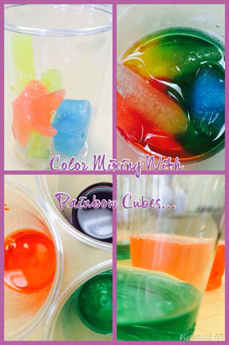 Mixing colours with coloured cubes!