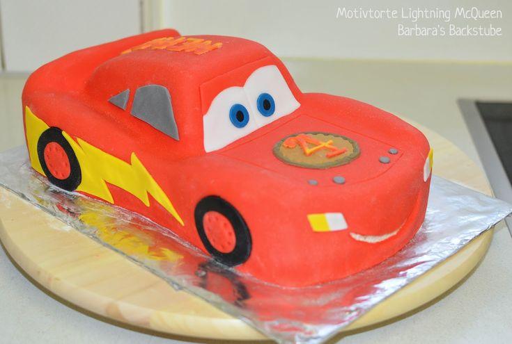 Barbaras Bäckerei: Lightning McQueen Cake (Mandelkeks mit Beerenfüllung)   – Kuchen