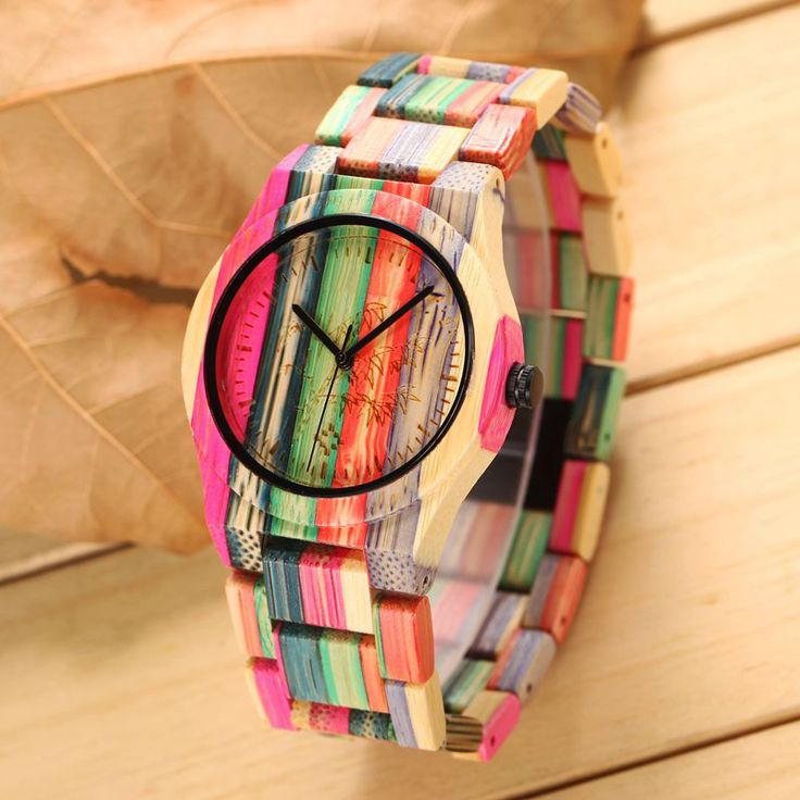 Colorful Wooden Watches Ladies Luxury Fashion Bamboo Watch Outdoor Casual Simple Style Women Wristwatch Quartz Female Clocks-in Women's Watches from Watches on Aliexpress.com | Alibaba Group