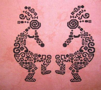 Tribal Kokopelli - Cross Stitch Pattern by White Willow Stitcing