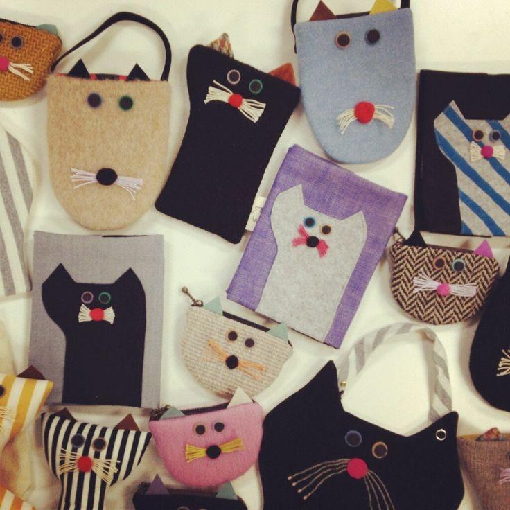 atelier moppy, cats ... Katzen, Täschchen, Geldbörse ...