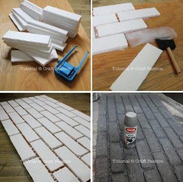 tijolo de isopor - craft passion