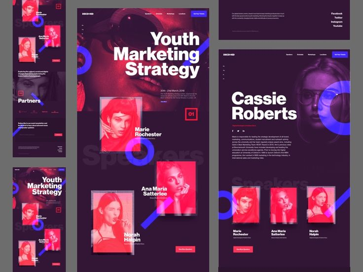Here it is! More screens of the Youth Marketing Strategy Conference website. Full screens are in the attachment!  Let me know your thoughts!