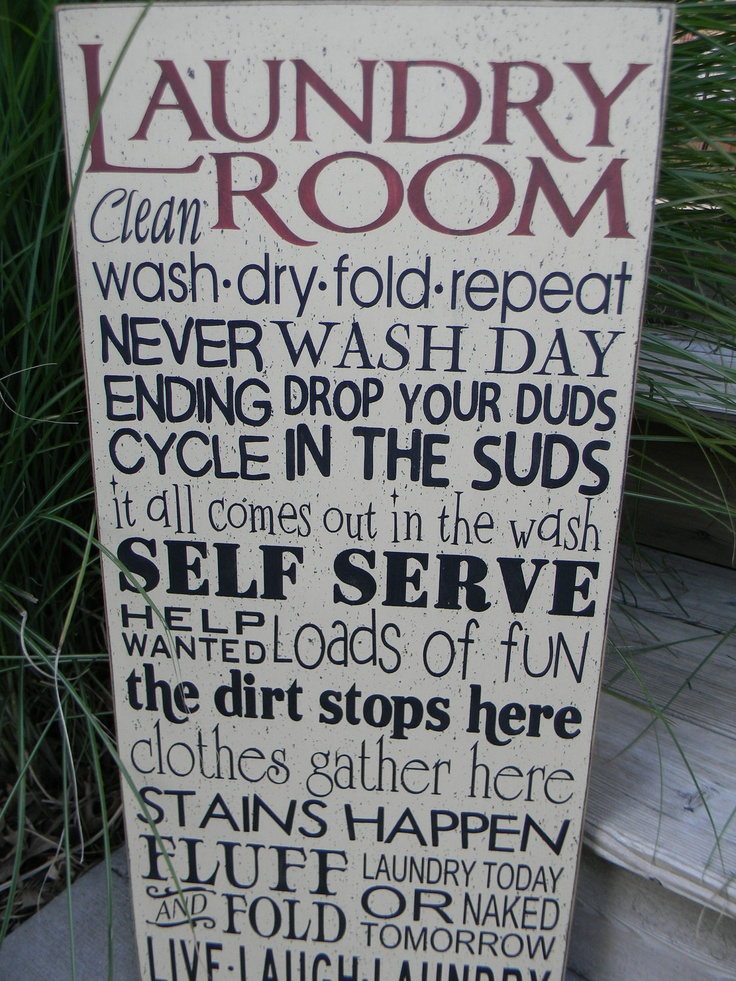 Laundry Room Typography Word Art Sign