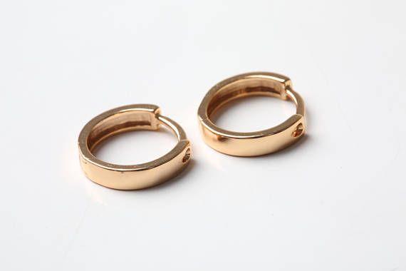 Gold Jewelry Earrings Minimalist Hoops Hoop