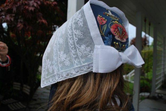 Håndarbeiden » Bunad fra topp til tå - nasjonaldrakt, craft, national costume hodeplagg pannelin bobbinett