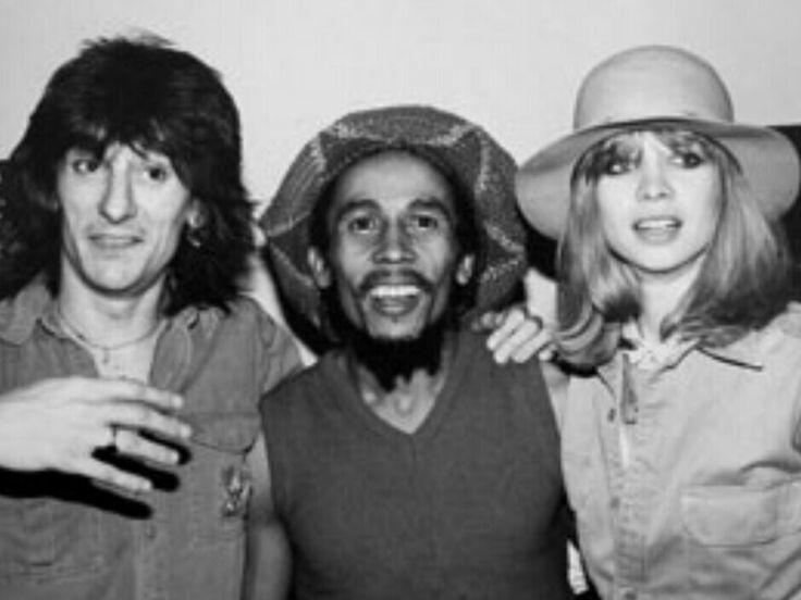 Ron Wood - Bob Marley - Jo  Wood.