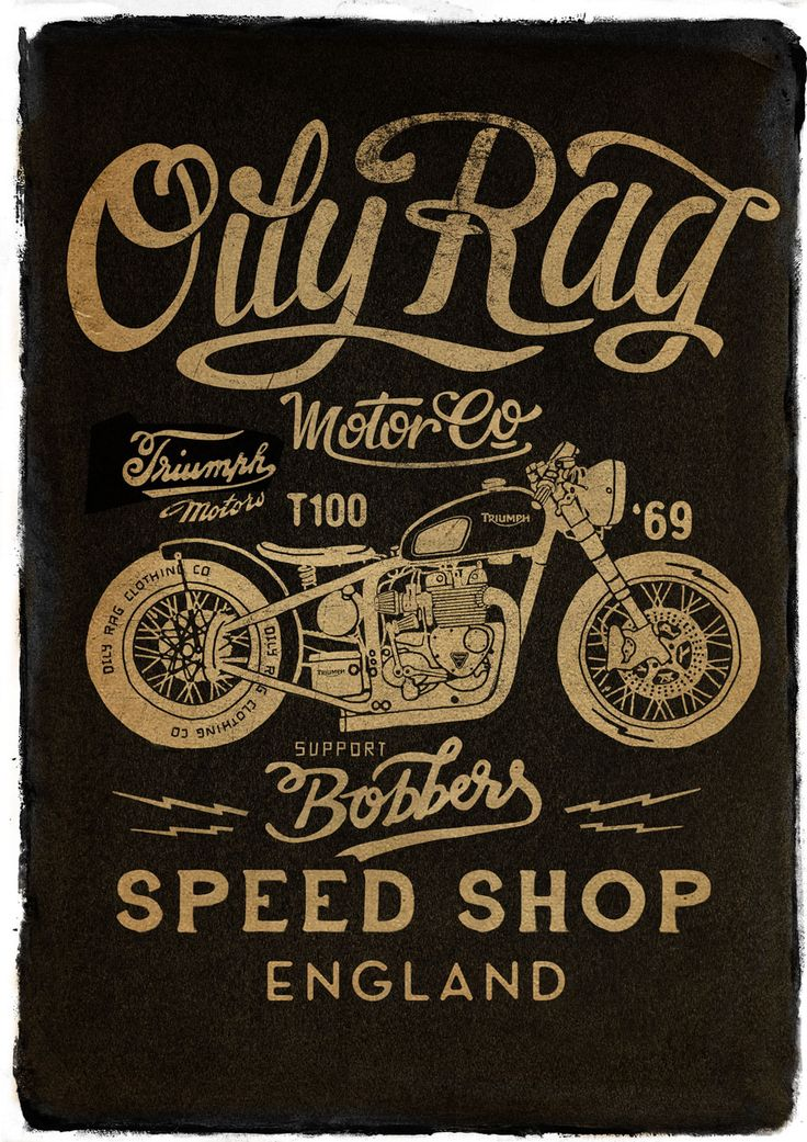 Poster for Oily Rag Motor Co Alex Ramon Mas Designs www.alexramonmas.com