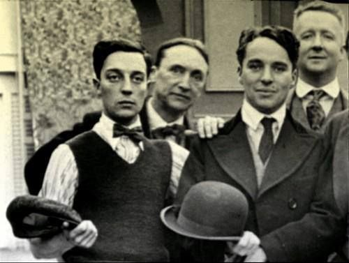 Buster Keaton & Charlie Chaplin. My all time favorite silent film actors and directors. <3