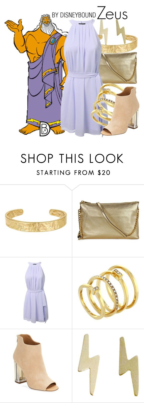 """Zeus"" by leslieakay ❤ liked on Polyvore featuring Sam Edelman, Michael Kors, Vince Camuto, Calvin Klein, Jessica Elliot, disney and disneybound"