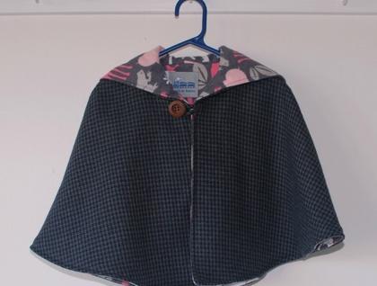 100% Wool Tweed Cape  www.etsy.com/shop/traintoboston