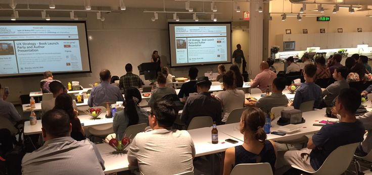 Photo by Lane Halley @thinknow  Jul 20 Great turnout at the @JaimeRLevy #uxstrategy NYC book launch party @pivotallabs @agileuxmeetup