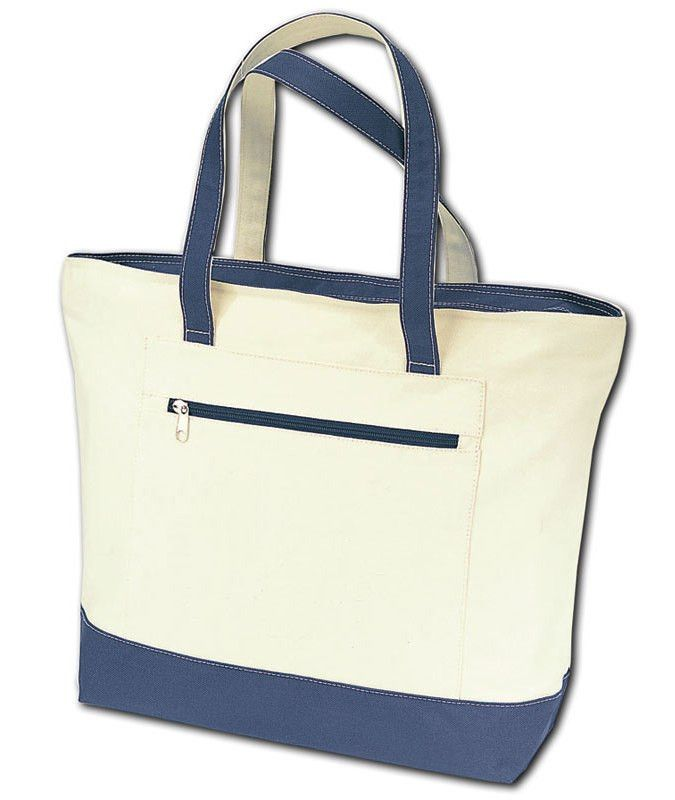 Heavy Canvas Zippered Shopping Tote Bags,Wholesale canvas tote bags