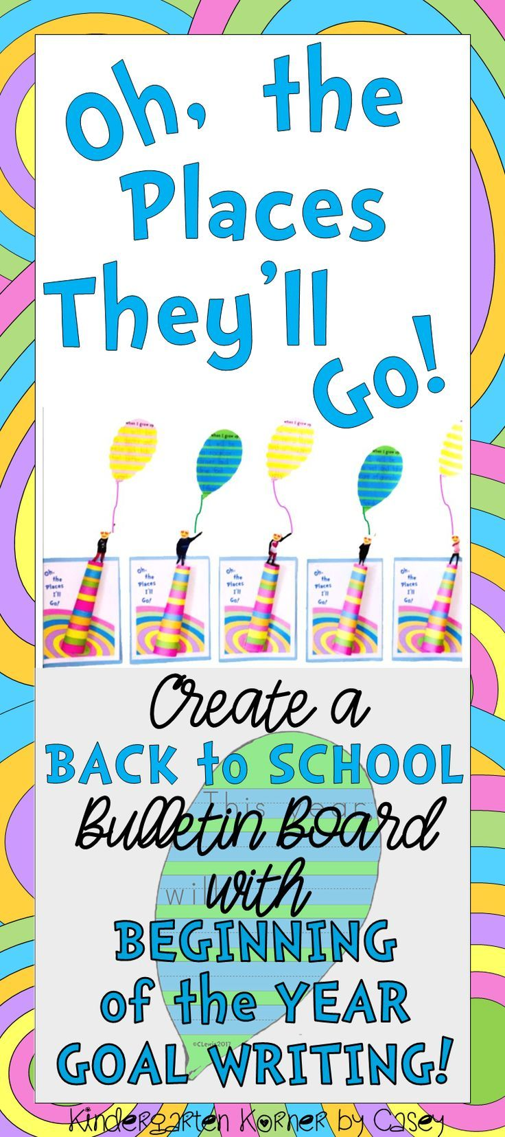 Oh, the Places They\'ll Go Bulletin Board Writing 3D Craft Beginning ...